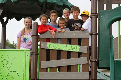 Kids in tree fort