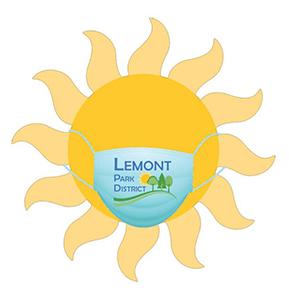 Sun with Lemont Park District Mask